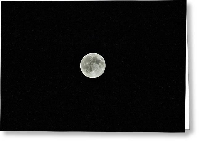 Man In The Moon Greeting Cards - Super Moon Greeting Card by Karl Anderson