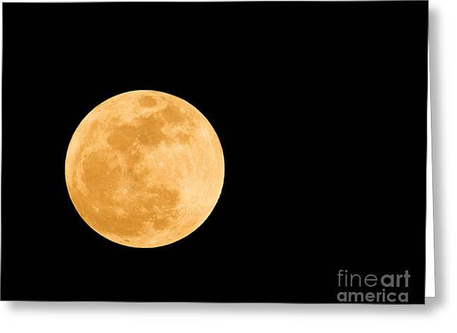 Large Moon Greeting Cards - Super Moon Greeting Card by Millard H. Sharp