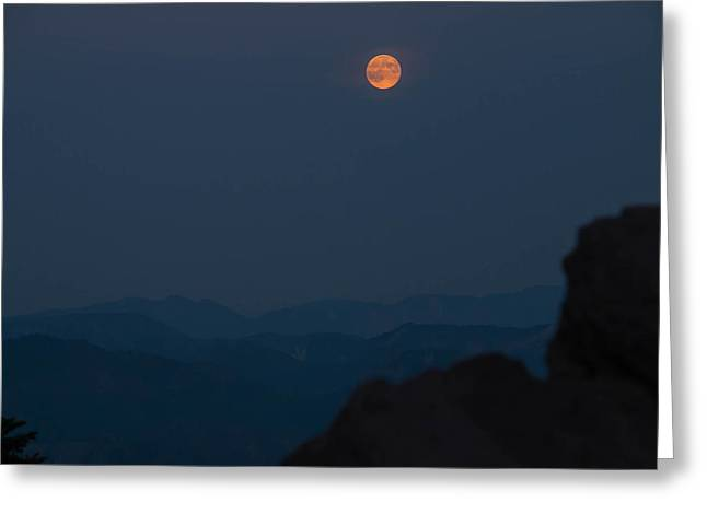 Super Stars Photographs Greeting Cards - Super Moon Night Sky Greeting Card by Ryan McGinnis