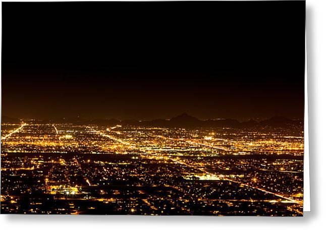 Super Moon Greeting Cards - Super Moon over Phoenix Arizona  Greeting Card by Susan  Schmitz