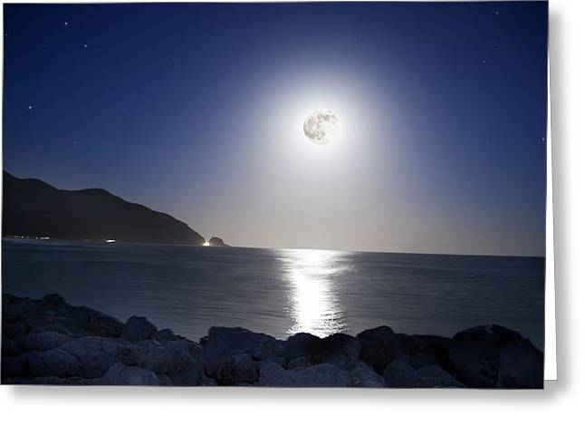 Super Stars Photographs Greeting Cards - Super Moon Greeting Card by Thomas Kessler