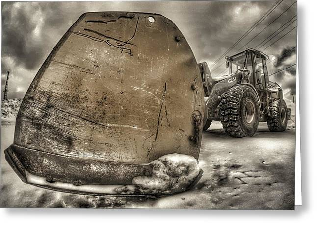 Front End Loader Greeting Cards - Super Plow Greeting Card by Lliem Seven