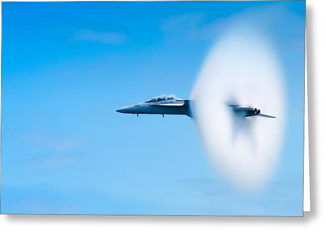 F-18 Greeting Cards - Super Sonic Greeting Card by Sebastian Musial