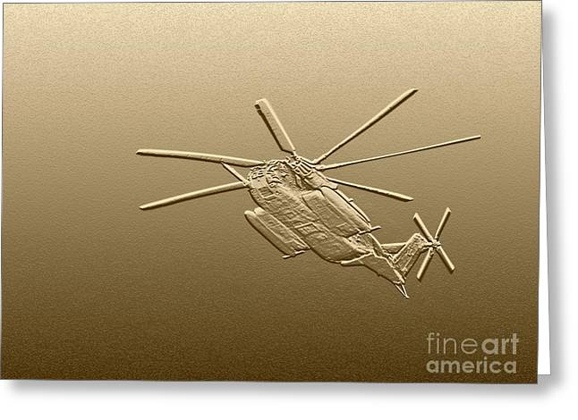 Helicopter Photographs Greeting Cards - Super Stallion - Digital Art Greeting Card by Al Powell Photography USA