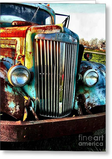 Hdr Look Greeting Cards - Super White Power Greeting Card by Julie Dant