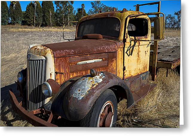 Junker Greeting Cards - Super White Truck Greeting Card by Garry Gay