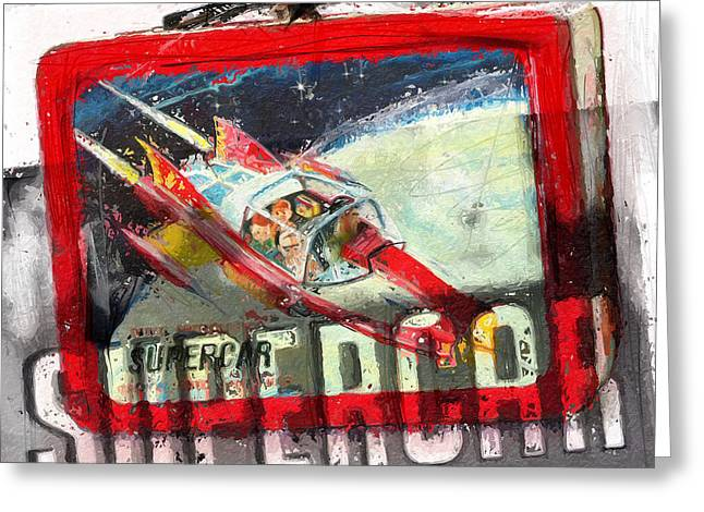 Rudolph Greeting Cards - Supercar Greeting Card by Russell Pierce