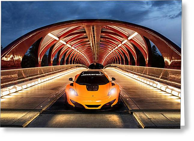 Supercar Sentinel Greeting Card by Peter Chilelli