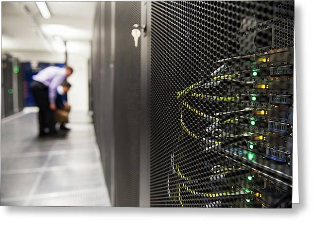 Supercomputer Centre Greeting Card by John Cairns Photography/oxford University Images