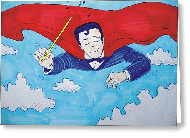 Superconductor Greeting Card by Mike Jory
