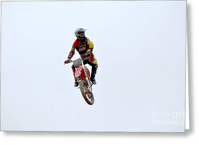 Supercross Greeting Cards - Supercross Greeting Card by DejaVu Designs