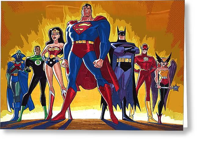 Superheroes Greeting Card by Victor Gladkiy