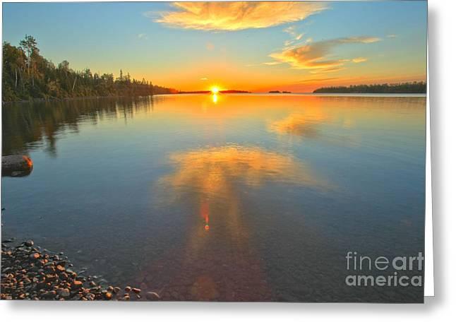 Superior Sunrise Greeting Cards - Superior Sunrise Greeting Card by Adam Jewell