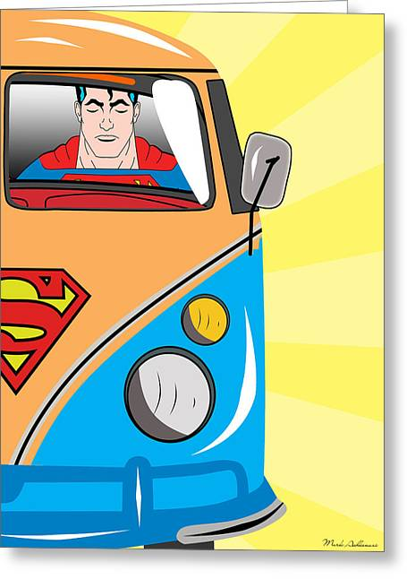 Beetle Greeting Cards - Superman 4 Greeting Card by Mark Ashkenazi