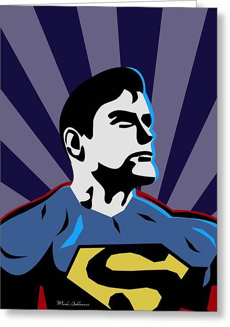 Superman 7 Greeting Card by Mark Ashkenazi