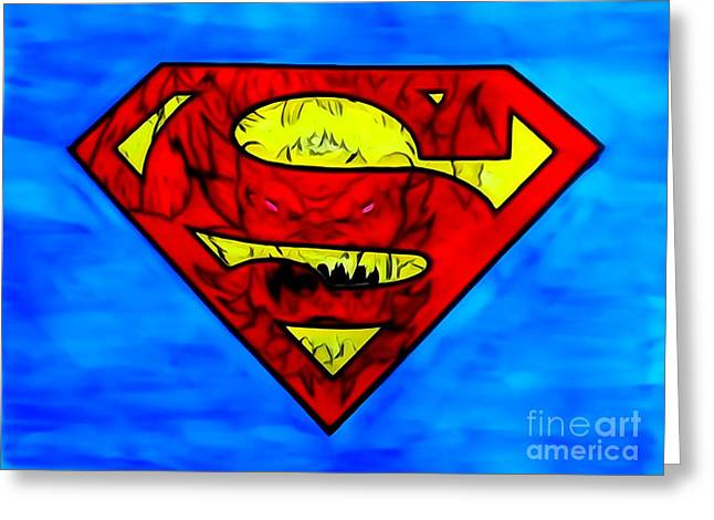 1938 Movies Greeting Cards - Superman and Doomsday R Y D Greeting Card by Justin Moore