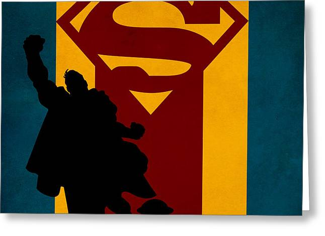 SUPERMAN Greeting Card by FHTdesigns