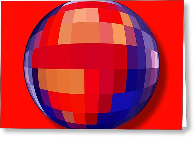 Superman Mixed Media Greeting Cards - Superman Orb Greeting Card by Tony Rubino
