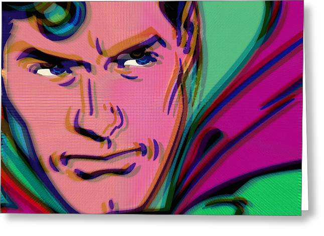 Superman Pop 2 Greeting Card by Tony Rubino