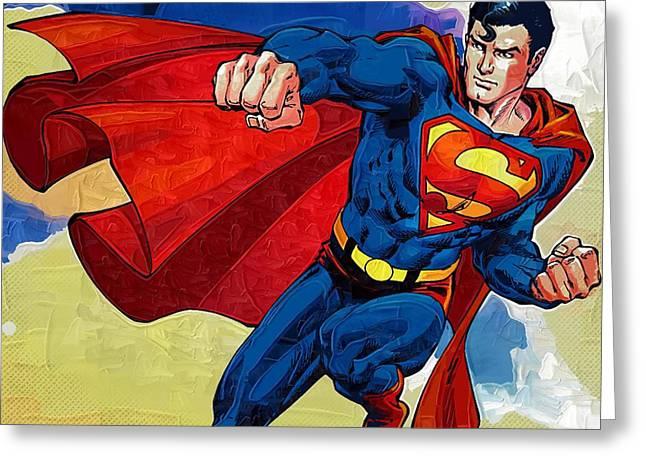 Eminem Paintings Greeting Cards - Superman Returns Greeting Card by Victor Gladkiy