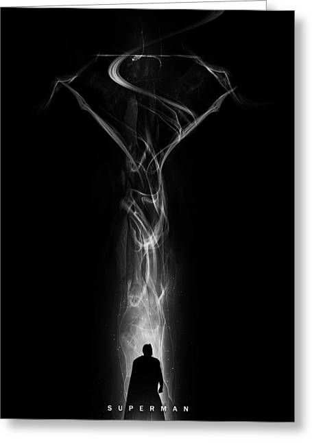 Superman Digital Greeting Cards - Superman - Steel Vapour Greeting Card by Alyn Spiller