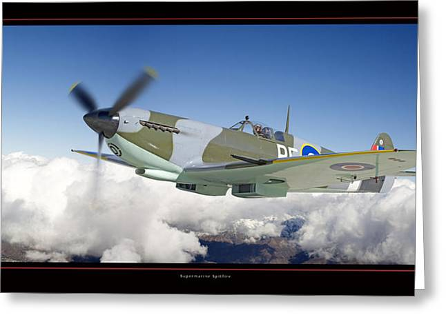 Airplane Art Framed Prints Greeting Cards - Supermarine Spitfire Greeting Card by Larry McManus