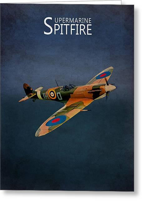 Spitfire Greeting Cards - Supermarine Spitfire Greeting Card by Mark Rogan