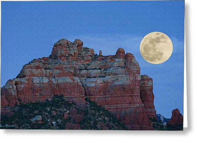 Geologic Formations Greeting Cards - Supermoon Greeting Card by Ellen Henneke