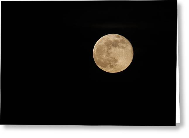 Supermoon Greeting Card by Kimberly Oegerle