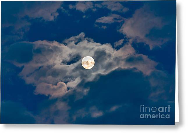 Man In The Moon Greeting Cards - Supermoon Greeting Card by Robert Bales