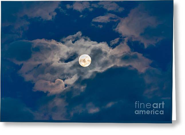 Supermoon Greeting Card by Robert Bales