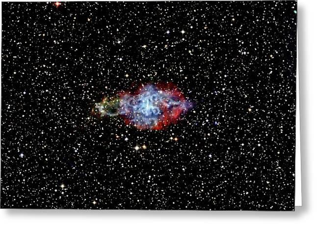 Supernova Remnant Greeting Card by Nasa/cxc/sao