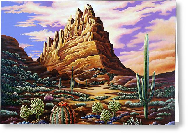 Surreal Landscape Photographs Greeting Cards - Superstition Mountains Greeting Card by Andy Russell