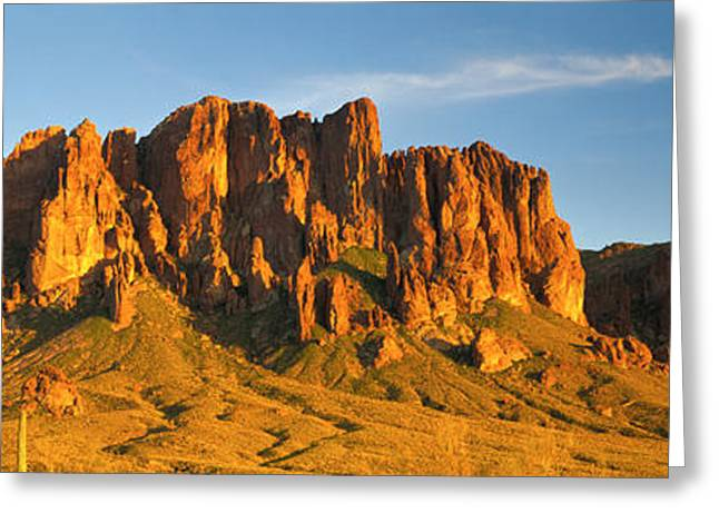 Mts Greeting Cards - Superstition Mountains, Arizona, Usa Greeting Card by Panoramic Images