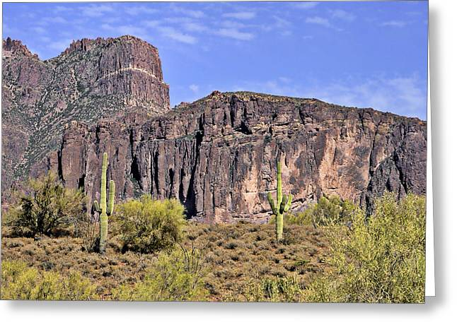 The Superstitions Greeting Cards - Superstition Wilderness Arizona Greeting Card by Christine Till