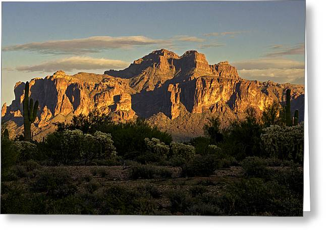 The Supes Greeting Cards - Superstitions at Sunset  Greeting Card by Saija  Lehtonen