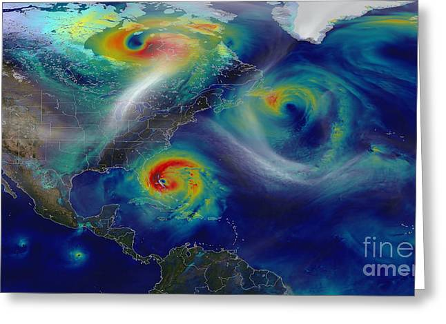 Superstorm Sandy Greeting Cards - Superstorm Sandy Greeting Card by Science Source