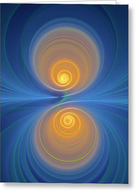 Supersymmetry And Or Bipolarity Greeting Card by David Parker