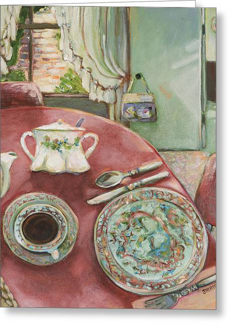 Grandmother Greeting Cards - Supper at 5pm Greeting Card by Jen Norton