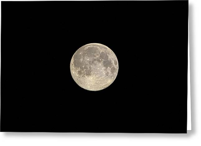 Summer Greeting Cards - Super Moon Greeting Card by Mandy Judson