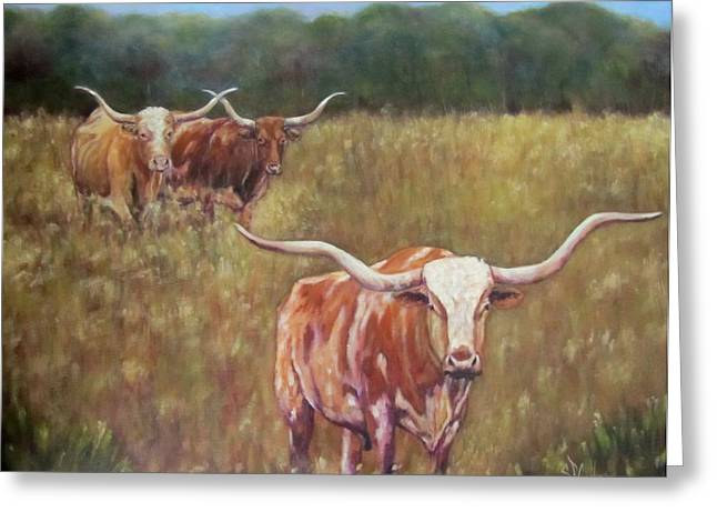 Wild Flowers Of Texas Greeting Cards - Supper Time Greeting Card by Sandra Cutrer