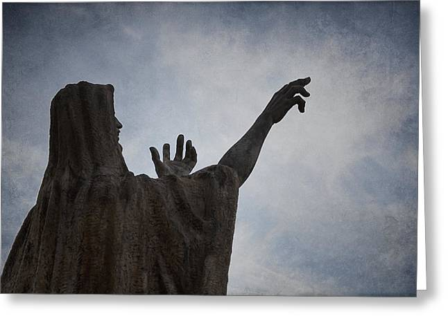 Historic Statue Greeting Cards - Supplication Greeting Card by Joan Carroll