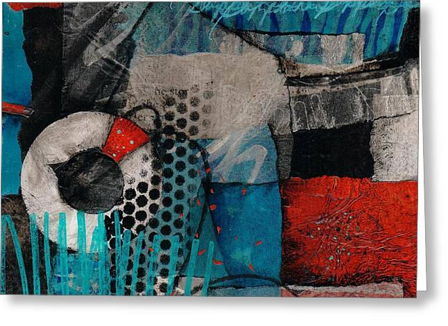 Abstract Mixed Media Greeting Cards - Support Her Greeting Card by Laura  Lein-Svencner
