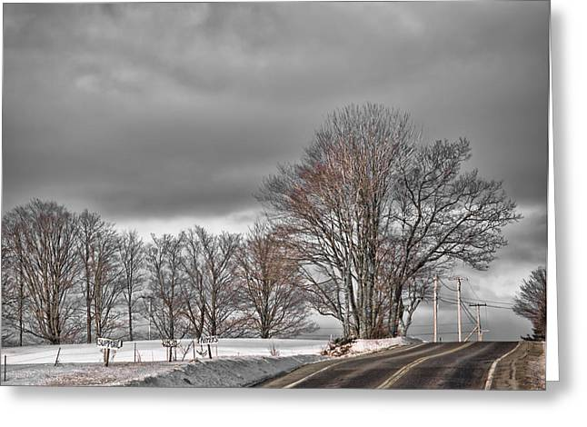 Rural Maine Roads Photographs Greeting Cards - Support Local Farmers Greeting Card by Richard Bean