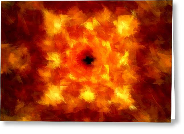 Abstract Impressionism Digital Art Greeting Cards - Supremacy Greeting Card by Lourry Legarde