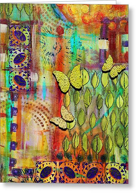 Religious Mixed Media Greeting Cards - Supreme Blessings Greeting Card by Angela L Walker