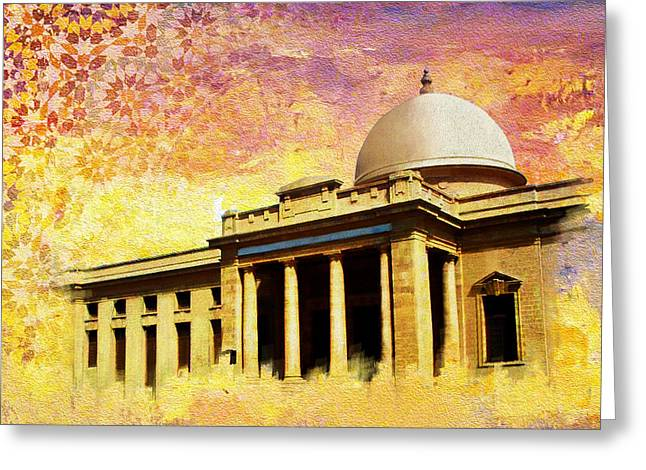 Karachi Lahore Greeting Cards - Supreme Court Karachi Greeting Card by Catf