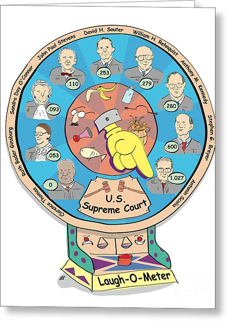 Thomas Connors Greeting Cards - Supreme Court Laugh-O-Meter Greeting Card by Diane Thornton