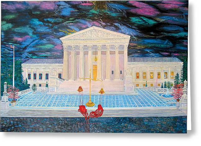 Incarnation Paintings Greeting Cards - Supreme Court Greeting Card by Mike De Lorenzo