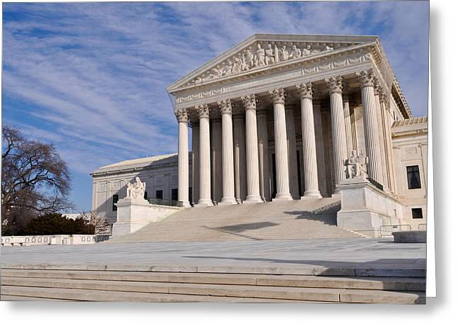 Equality Greeting Cards - Supreme Court of the United States of America Greeting Card by Brandon Bourdages